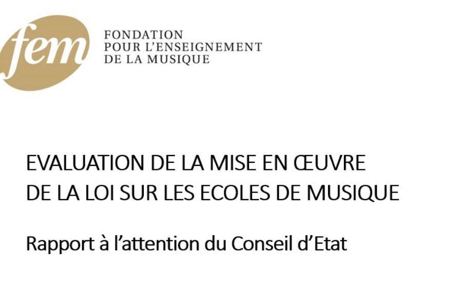 Rapport d'évaluation de la LEM